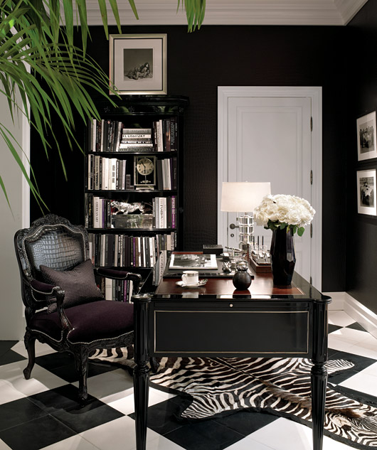 Pantaleon Y Las Decoradoras Ralph Lauren Black Decorating Office Ideas Zebra Print Rug Home Decor
