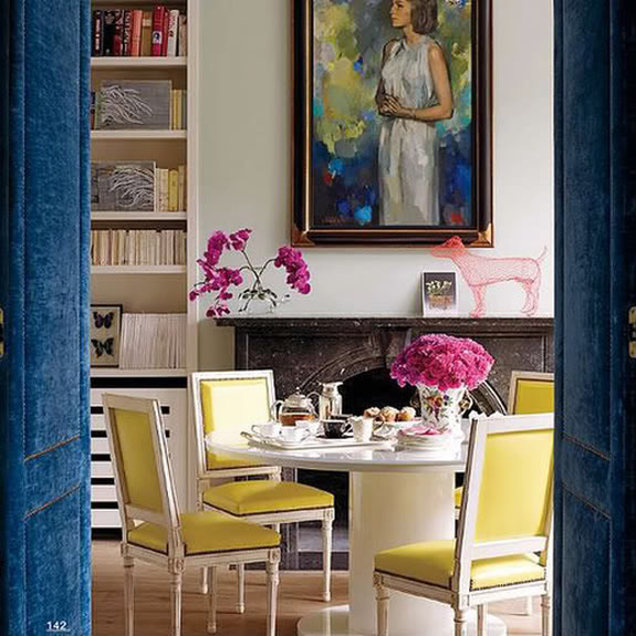 Casa de Christine d'Ornano en Londres, via Elle Decor