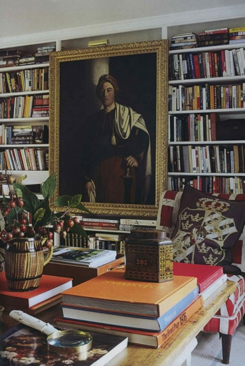 Biblioteca de Anna Wintour, via the World of Interiors