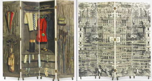 Biombo Fornasetti, folding screen
