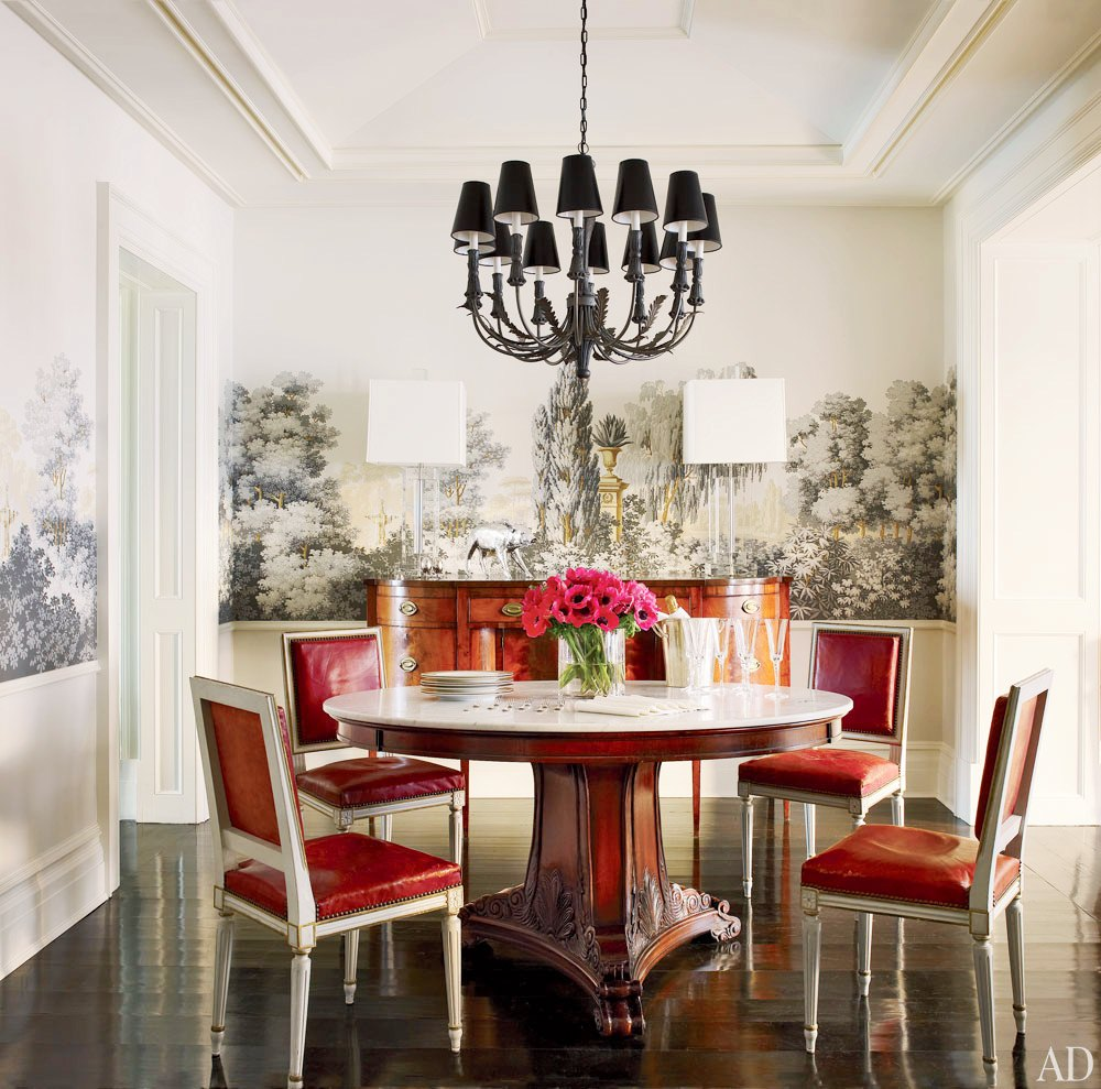 Gracie Studio Wallpaper, Brooke Shields Dining Room