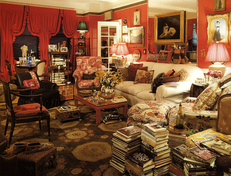 Apartamento de Diana Vreeland en Nueva York. Vía The World of Interiors