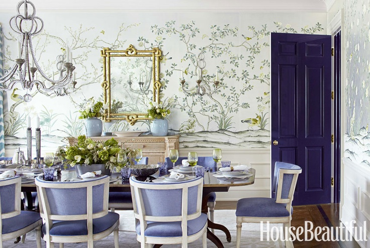 De Gournay wallpaper - House Beautiful