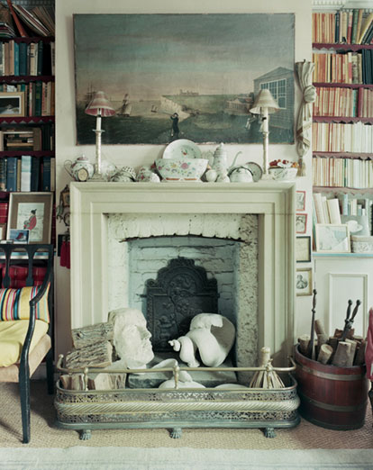 Casa de Londres de Min Hogg, fundadora de The World of Interiors. Vía The London Magazine