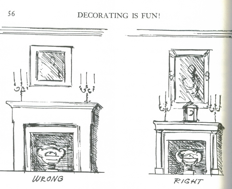 "Dorothy Draper, del libro ""Decorating is fun"""