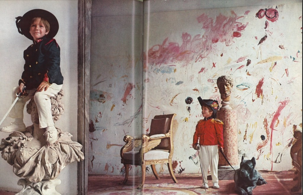 "Casa de Cy Twombly en Roma, ""decorada"" por él mismo. Vía ""The World of Interiors"""