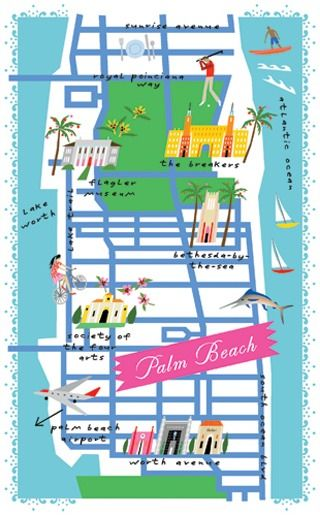 Mapa de Palm Beach vía Elle Decor