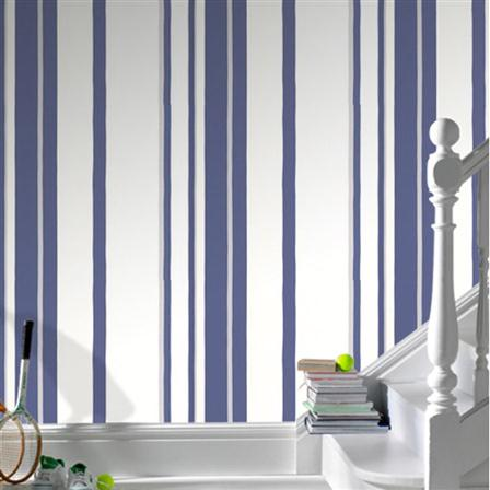 Kelly Hoppen Stripe, papel pintado de Graham & Brown. 30€ el rollo.